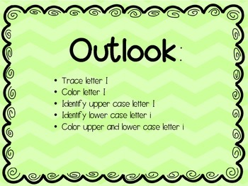 Letter focus: Letter I
