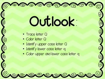 Letter focus: Letter Q