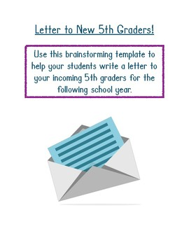 Letter for New Students (5th Grade)