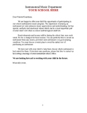 Letter for Recruiting Band Students (Elementary Edition)