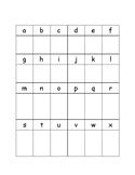 Letter formation assessment