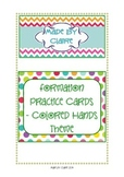 Letter formation cards (Lowercase) Colored Hands Theme