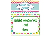 Letter formation cards (Lowercase) - Colored Owls Theme