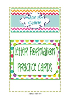 Letter formation practice cards