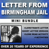 MARTIN LUTHER KING JR. MLK DAY LETTER FROM BIRMINGHAM JAIL ACTIVITY CIVIL RIGHTS