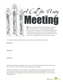 "Letter from Birmingham Jail — ""A Call for Unity"" Discussion Activity"
