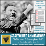 """Letter from Birmingham Jail"" Text with Scaffolded Annotations"