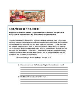 Letter from King Afonso to King Joao III