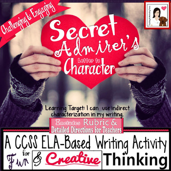Writing & Characterization: Love Letter from Secret Admirer Middle & High School
