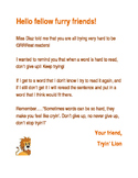 Letter from Tryin' Lion (Reading Strategy)
