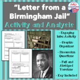 Letter from a Birmingham Jail- Activity and Graphic Organi