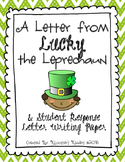 Letter from a Leprechaun & Student Response Writing Paper