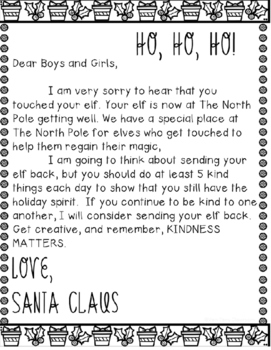 Letter from the Elf FREEBIE