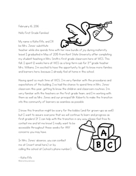 Editable Letter from the Long-Term Maternity Sub
