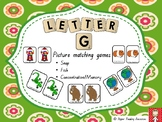 """Letter """"g"""" picture and word matching games"""