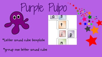 Letter group cube template & letter sound group one cube