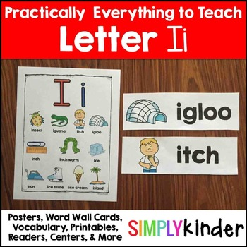 Letter i   Alphabet Printables and Centers