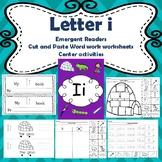 Letter i activities (emergent readers, word work worksheet