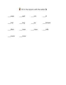 FREEBIE Letter i Letter j Letter k Kindergarten Fill in the Blank Sight Words