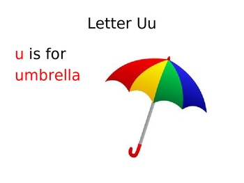 Letter i and u book