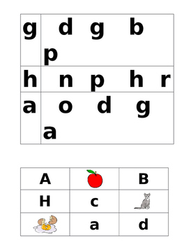 Letter identification and matching activity