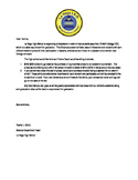 Letter inviting students to Satuerday academy for Biology