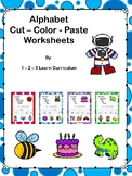 Letter is For: Color - Cut and Paste Worksheets