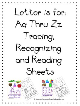Letter is for Aa Thur Zz Tracing