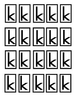 Letter k phonics pack