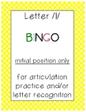 Letter /l/ BINGO (initial position only)