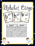 Letter Matching Alphabet Bingo Lowercase to Uppercase-Space
