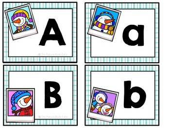 Letter matching-Snowman Themed