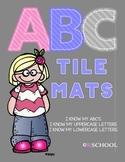 Letter matching alphabet tile mats