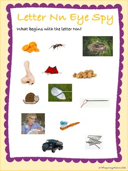 Letter of the Week Pack: N (Incorporating Literacy, Math, Science & Humanities)