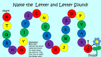Letter name and Letter Sound Review game Uppercase Letters