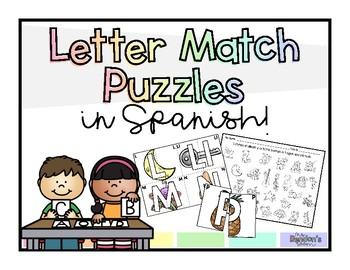 Letter name and letter sound puzzle in Spanish!