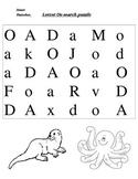 Letter o search puzzle