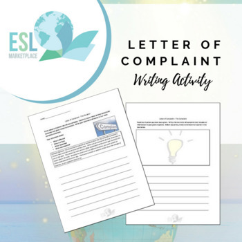 Letter of Complaint Writing Activity