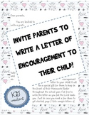 Letter of Encouragement from Parent to Student