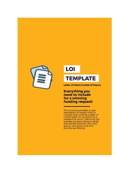 Letter of Intent/Letter of Inquiry/LOI template