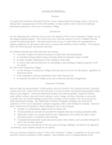 Letter of Proposal