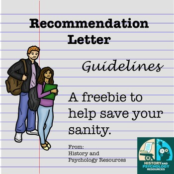 Letter of Recommendation Guidelines, Signup Sheet, and Letter Template