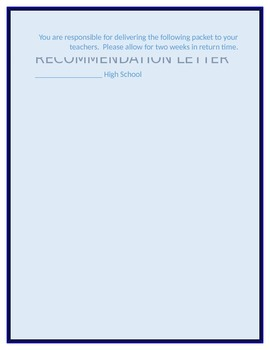 Letter of Recommendation Request- college/scholarship