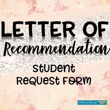 Recommendation Request for Students
