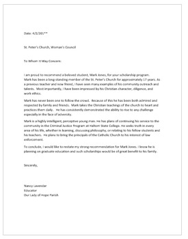 Letter Of Recommendation For A Student Scholarship from ecdn.teacherspayteachers.com