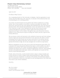 Letter of Recommendation for an Intern
