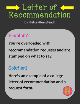 Letter of Recommendation set