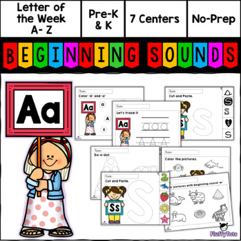 Back to School Letter of The Week A-Z : Fun ABC Printables!