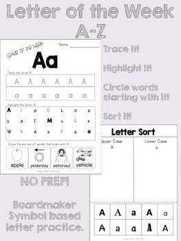 Letter of The Week A-Z Complete Pack