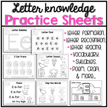 Letter of The Week E  activity pack